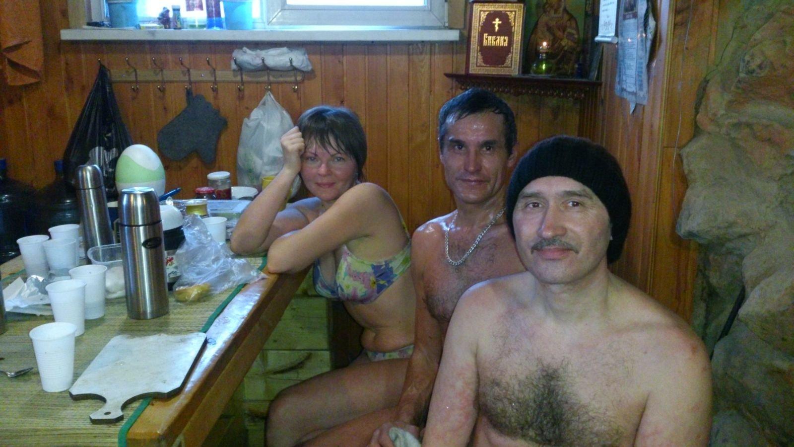 Аня, Раиль и Игорь