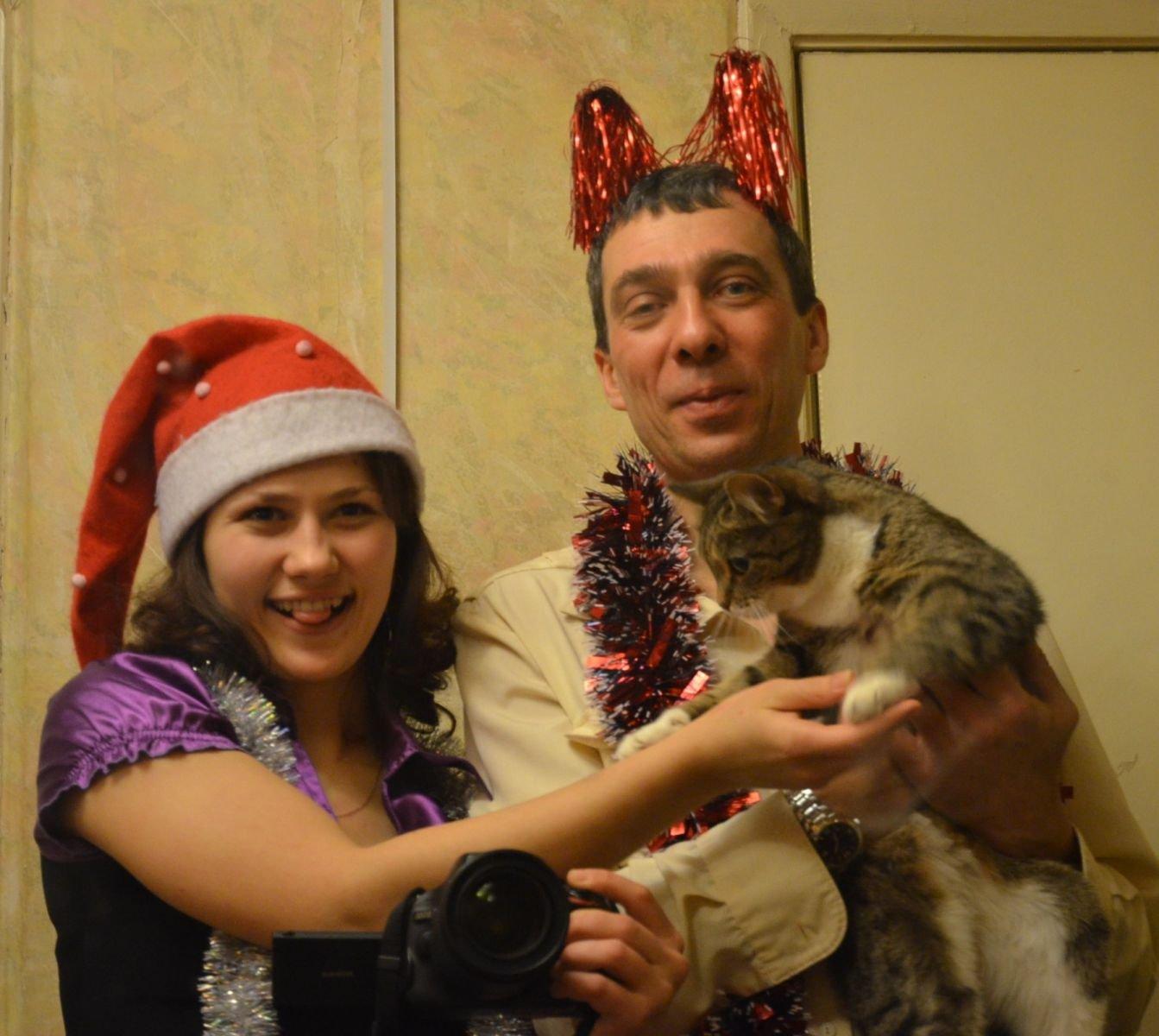 Семейный новогодний партрет