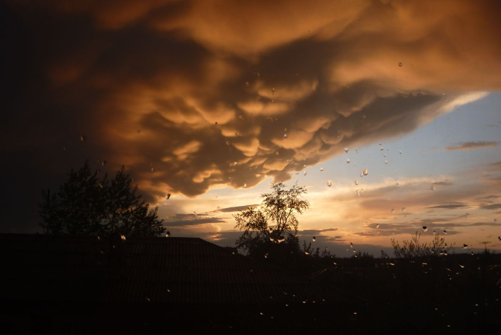 Вид из окна №2  10.05.2012 (~10 вечера)