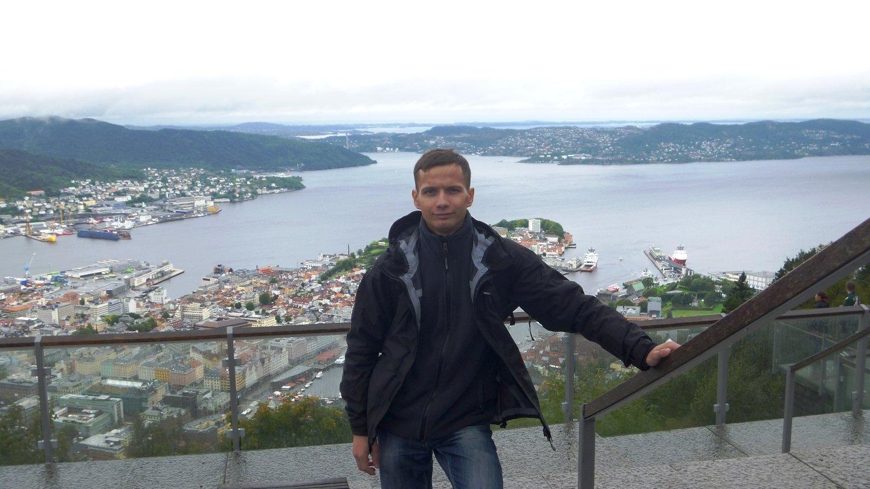 Вид на город Берген (Норвегия)