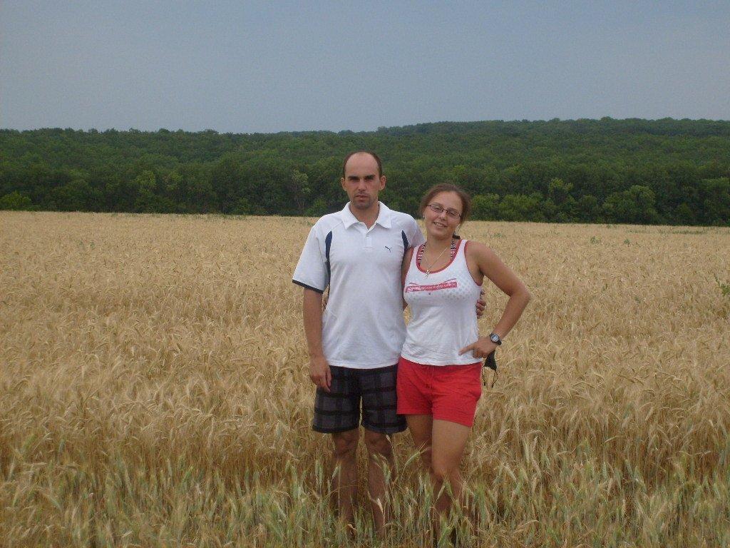 я с братом в поле пшеницы